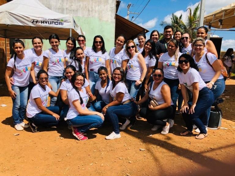 Alunos de enfermagem realizam ação social em Parauapebas